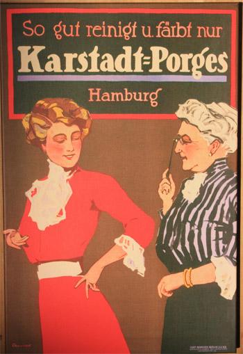 Plakat Karstadt-Porges