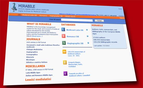 Mirabile – Online-Portal zur lateinischen Mediävistik