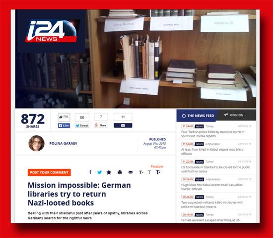 Artikel über Restitution auf i24