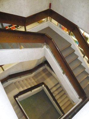 neue beleuchtung im lesesaal treppenhaus ab. Black Bedroom Furniture Sets. Home Design Ideas