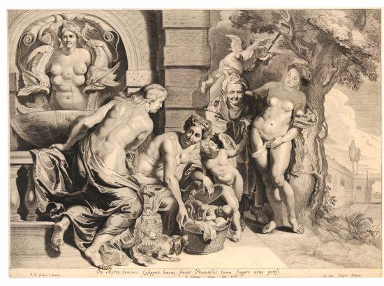 Pieter van Sompel nach Peter Paul Rubens: Die Entdeckung des Erichthonios-Knaben