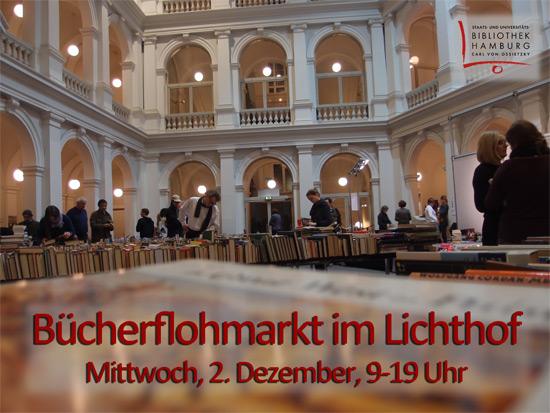 Bücherflohmarkt im Lichthof