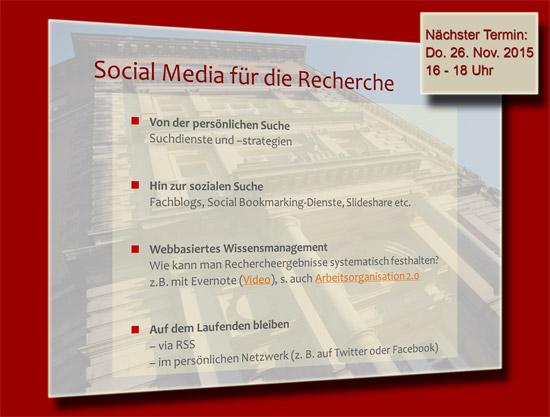 Social Media für die Recherche
