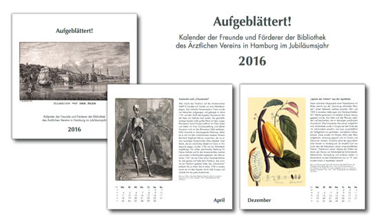 Kalender der Bibliothek des Ärztlichen Vereins