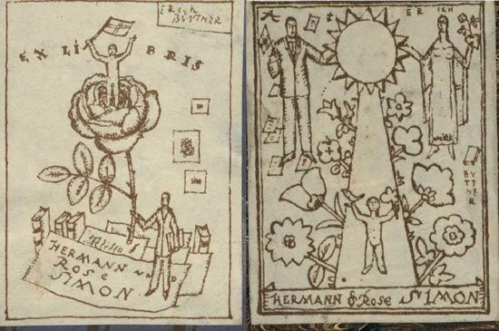 Exlibris Hermann und Rose Simon
