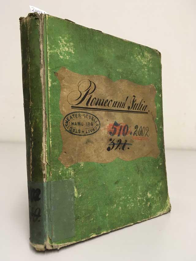 Romeo und Julia – Textbuch des Hamburger Stadttheaters, um 1822