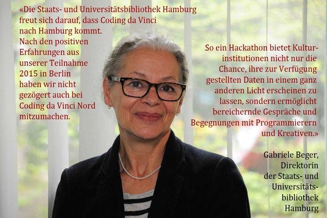 Gabriele Beger zu Coding da Vinci Nord