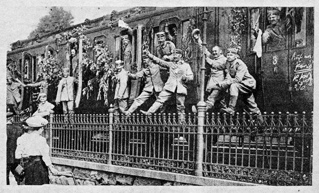 Foto aus der Weltbrand App der Stabi (27.08.1914)