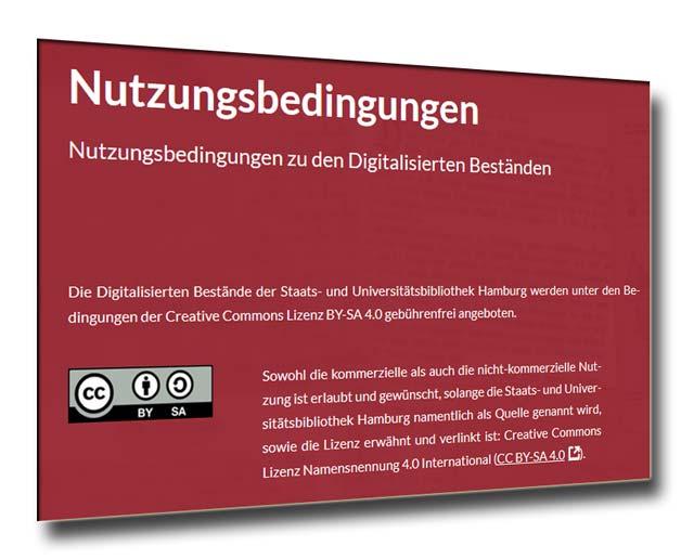 Nutzungsbedingungen für die Digitalisierten Bestände