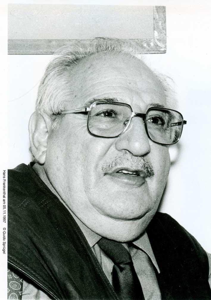 Hans Frankenthal am 5.11.1997, Foto: Guido Sprüngel