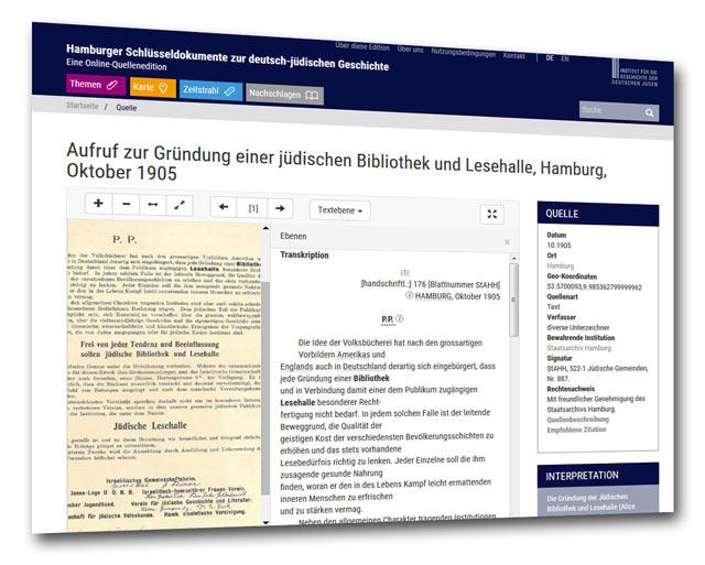Aufruf zur Gründung einer jüdischen Bibliothek und Lesehalle, Hamburg, Oktober 1905