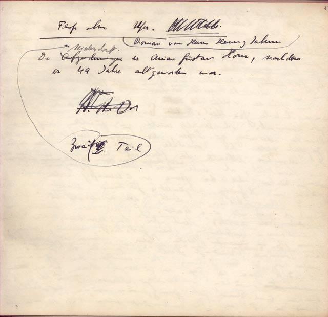 Hans Henny Jahnn 'Die Niederschrift des Gustav Anias Horn'