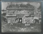 Chichén Itzá: El Palacio. Templo de tres Cuerpos. 1. Cuerpo. Fachada Este. 1892. Nachlass Teobert Maler IAI