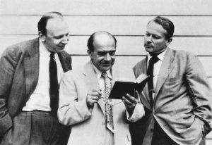 Erwin Panofsky zwischen seinen ehemaligen Schülern