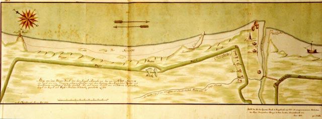 Karte Döser Deich und Cuxhaven 1729 StA Cuxhaven