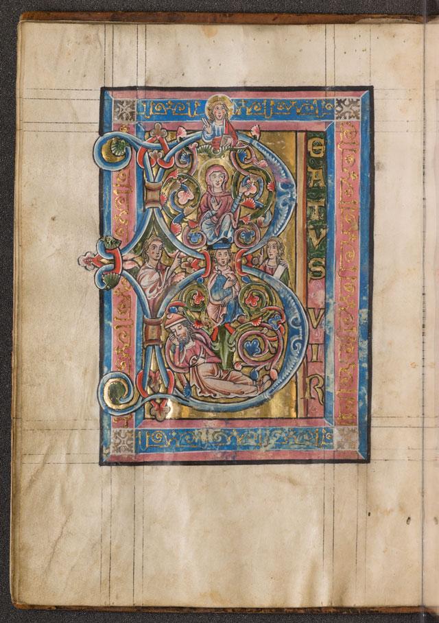 Cod. in scrin. 83, fol. 7v: Psalter