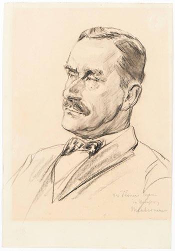 Max Liebermann, Porträt von Thomas Mann, 1925. © die LÜBECKER MUSEEN
