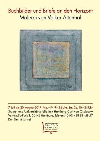 Buchbilder und Briefe an den Horizont – Malerei von Volker Altenhof (7.7.-20.8.)