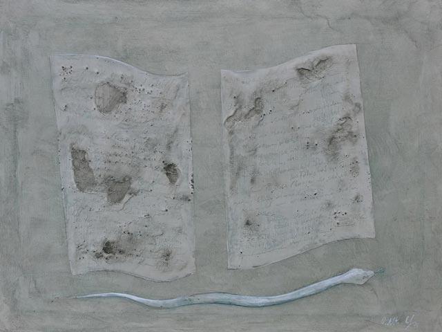 Rudiment und Erkenntnis, 2017, 60 x 80 cm , Tempera auf Leinwand