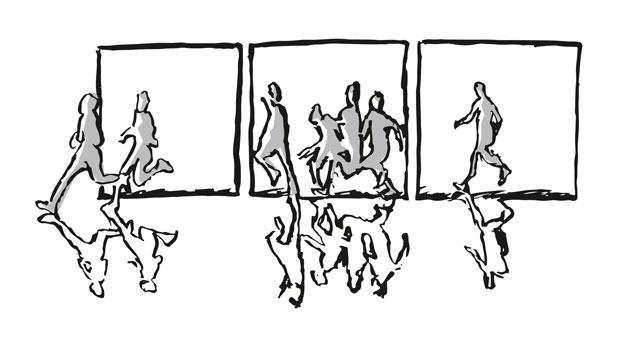 Bilderfolgen von Flucht und Exil
