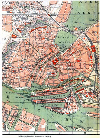 Stadtplan von 1904