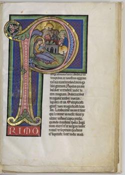Mainzer Lektionar Codex in scrinio 1 (um 1260). © Staats- und Universitätsbibliothek Hamburg