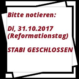 Reformationstag Geschlossen 3110 Stabi Blog