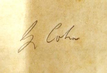 Unterschrift Cohn