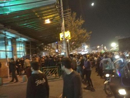 Proteste am 31. Dezember in Teheran.
