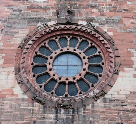 Glücksrad des Basler Münster