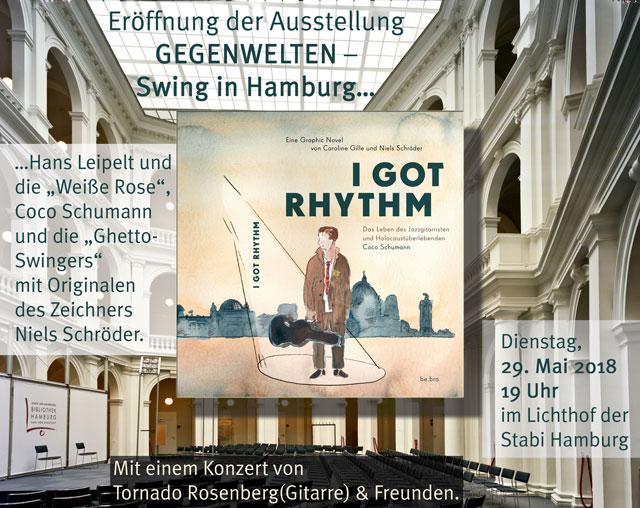 Eröffnung der Ausstellung 'GEGENWELTEN - Swing in Hamburg…'