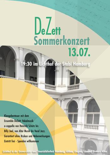 Sommerkonzert des Vokalensembles DeZett