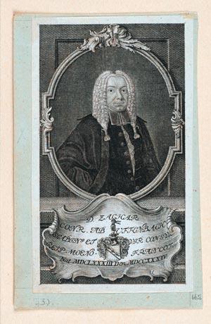 Abb. 3 Kupferstich SUB Hamburg: Zacharias Conrad von Uffenbach (1683–1734)