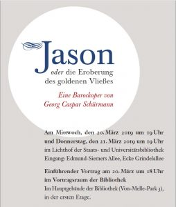 """barockwerk hamburg: """"Jason oder die Eroberung des goldenen Vließes"""""""