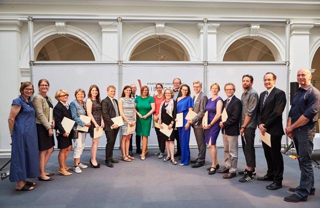 Verleihung des Hamburger Lehrpreises 2018 im Lichthof der Stabi