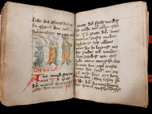 Cod. 8, fol. 190v–191r, Federzeichnung