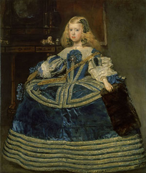 Portrait of the eight-year-old Infanta Margarita Teresa in a Blue Dress (1659) by Diego Velázquez
