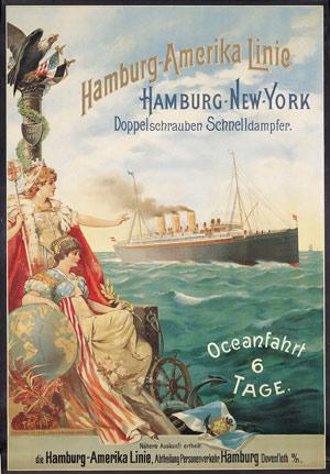 Werbeplakat der Hamburg-Amerika-Linie, 1897