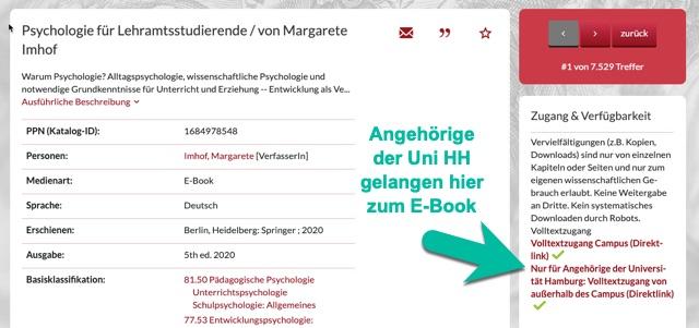 E-Book für Angehörige der Uni HH
