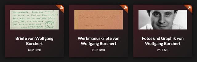 Digitalisierte Bestände Wolfgang Borchert