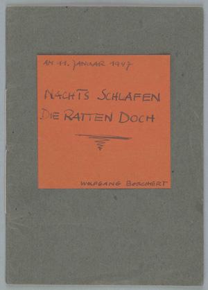 Manuskript von 'Nachts schlafen die Ratten doch'