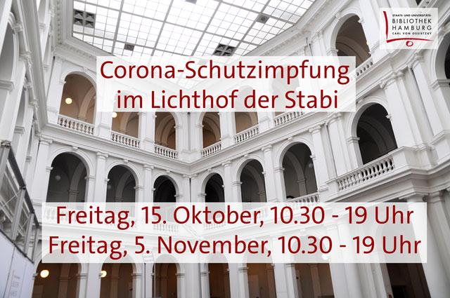 Corona-Schutzimpfung in der Stabi (15.10. + 5.11.)